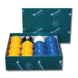 Billes ARAMITH Pool Casino Ø 57.2 mm - bleu et jaune