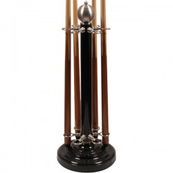 Black stainless steel Cue-holder 6 cue