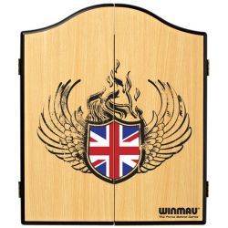 Union Jack darts cupboard