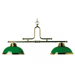brass lights with Green dome