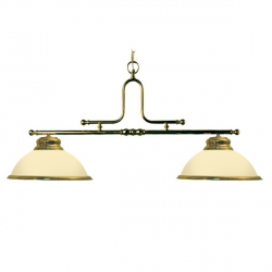 brass lights with opal dome