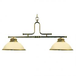 Luminaire laiton - 2 dômes opales