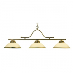 Brass lights with opal domes