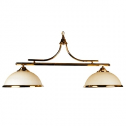 Brass lights with opales domes