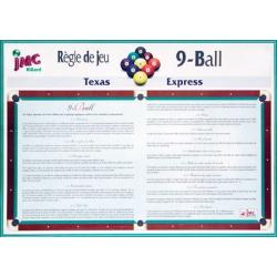 "Règle de jeu ""9 Ball"""
