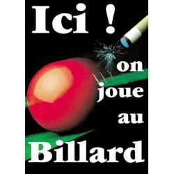 Poster billard - 29.7 X 42 cm.