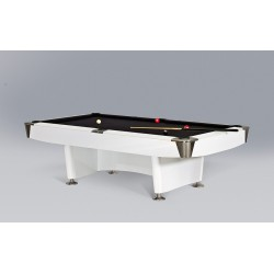 Dino Sport Plus 8ft White Pool Table