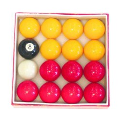 Standard English pool ball set – Ø 2 in