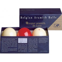 LUXURIOUS SUPER ARAMITH FRENCH BILLIARD BALL SET - Ø 2,4 IN