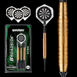 Fléchettes soft Winmau Broadside brass
