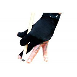 Gant billard premium 3 doigts noir