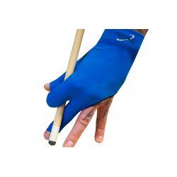 Gant billard premium 3 doigts bleu