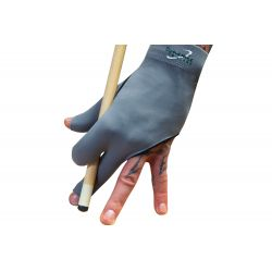 Gant billard premium 3 doigts gris