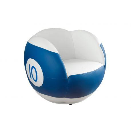Fauteuil pivotant bleu et blanc n°10