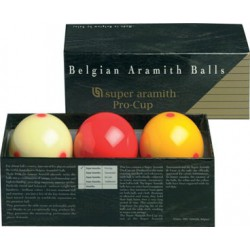 PRO CUP SUPER ARAMITH FRENCH BILLIARD BALL SET - Ø 2,4 IN