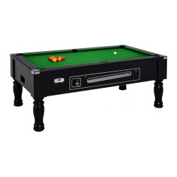 mahogany ASCOT ENGLISH POOL TABLE with coin-operated device