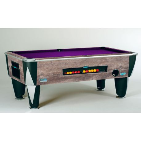 black marbled ATLANTIC ENGLISH POOL TABLE with coin system