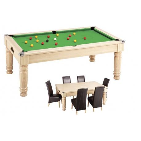 6 ft oak saloon english pool / dinner table mix - jmc billard