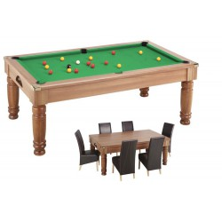 6 ft walnut SALOON ENGLISH POOL / DINNER TABLE MIX