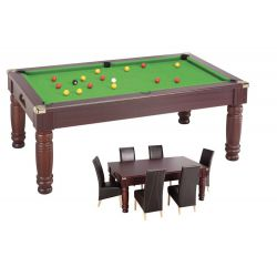 Mahogany SALOON ENGLISH POOL / DINNER TABLE MIX Vert