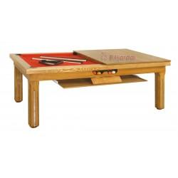 Newlyn option plateau-table bois + rangement des plateaux