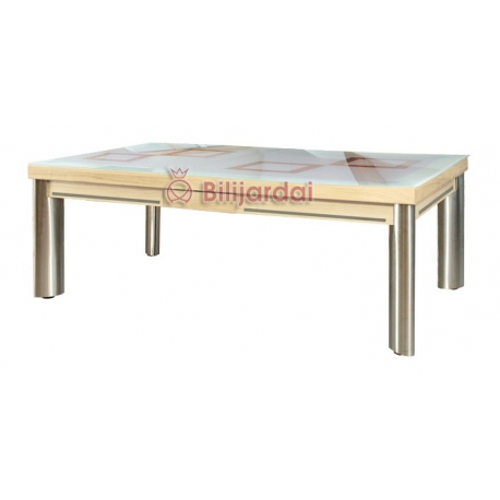 mirage option plateau table verre securit d poli avec motif jmc billard. Black Bedroom Furniture Sets. Home Design Ideas
