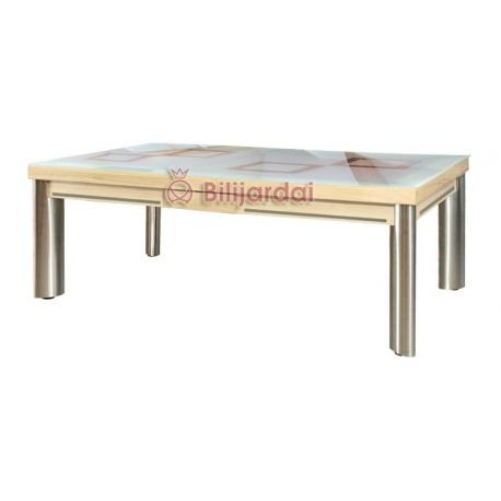 Mirage option plateau-table verre securit dépoli avec motif