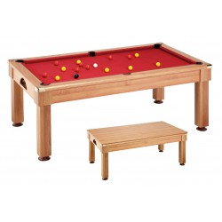 BILLARD SALOON 7FT NOYER DRAP ROUGE